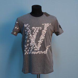 Louis Vuitton Plane LV Logo Gray T-Shirt